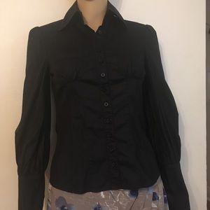 Bebe women's Blouse long sleeve sz XS Button down